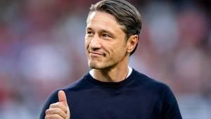 FC-Bayern-Trainer Niko Kovac zeigt sich mit dem Spielverlauf zufrieden