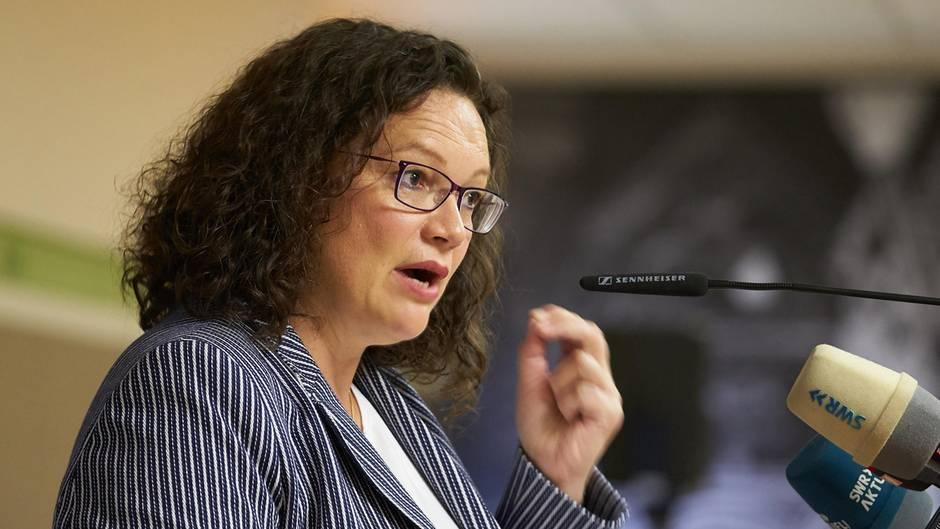 Andrea Nahles - erster Auftritt nach Rücktritt als SPD-Vorsitzende