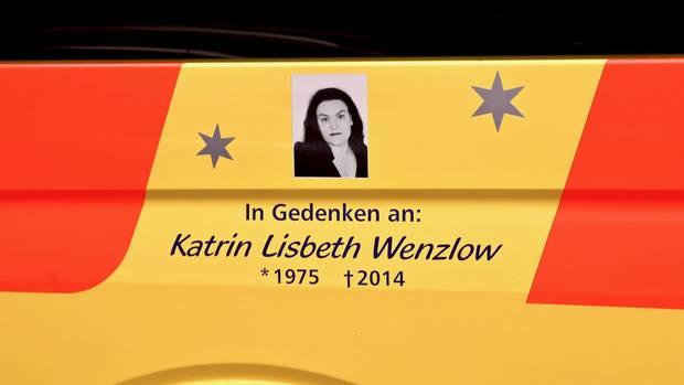 Ein Bild erinnert an Katrin Lisbeth Wenzlow, Frank Wenzlows verstorbene Frau