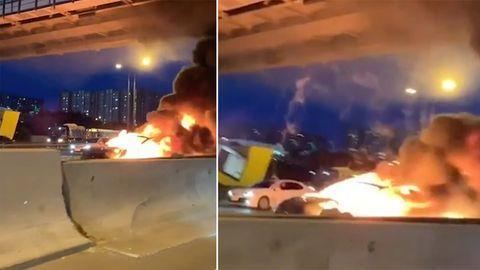 Moskau: Tesla Model 3 explodiert nach Unfall