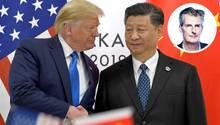 US-Präsident Donald Trump schüttelt dem chinesischen Präsidenten Xi Jinping.
