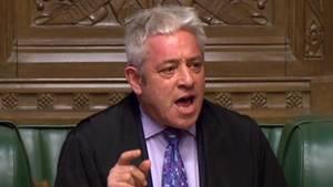 Der britische Parlamentssprecher John Bercow