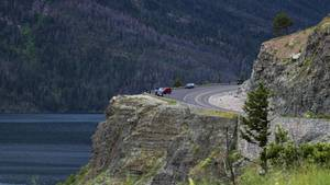 Die Going-to-the-Sun-Road im Glacier Nationalpark