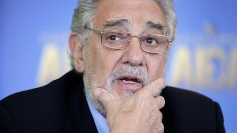 Plácido Domingo bei einer Pressekonferenz im Jahr 2016