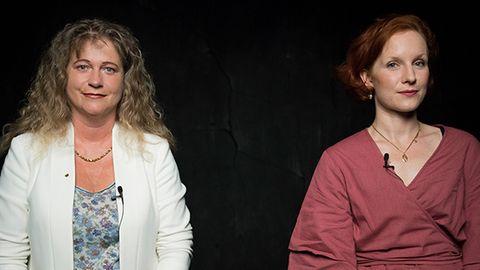 Feministin Teresa Bücker und die Abtreibungsgegnerin Alexandra Maria Linder in der DISKUTHEK