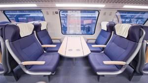 Erste Klasse im Regionalzug