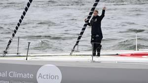 Greta Thunberg auf der Malizia II