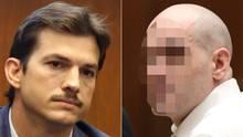Ashton Kutcher (l.) und Michael G. im Gerichtssaal in Los Angeles im US-Bundesstaat Kalifornien