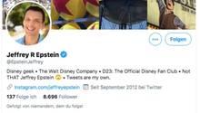 Jeffrey Epstein auf Twitter