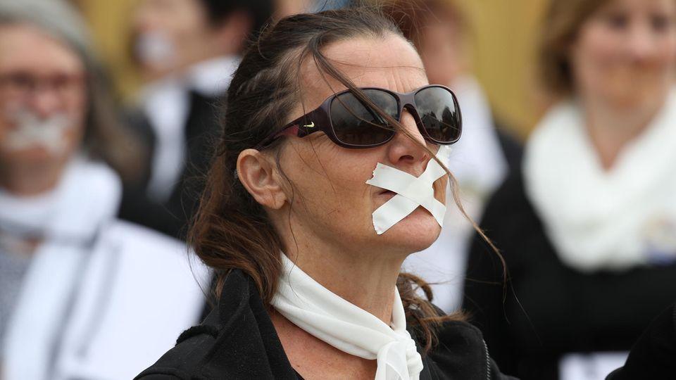 """Aktivistinnen der kirchlichen Reformbewegung """"Maria 2.0"""" in Ulm"""