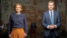 Katja Kipping und Michael Kretschmer diskutieren in der stern-Diskuthek