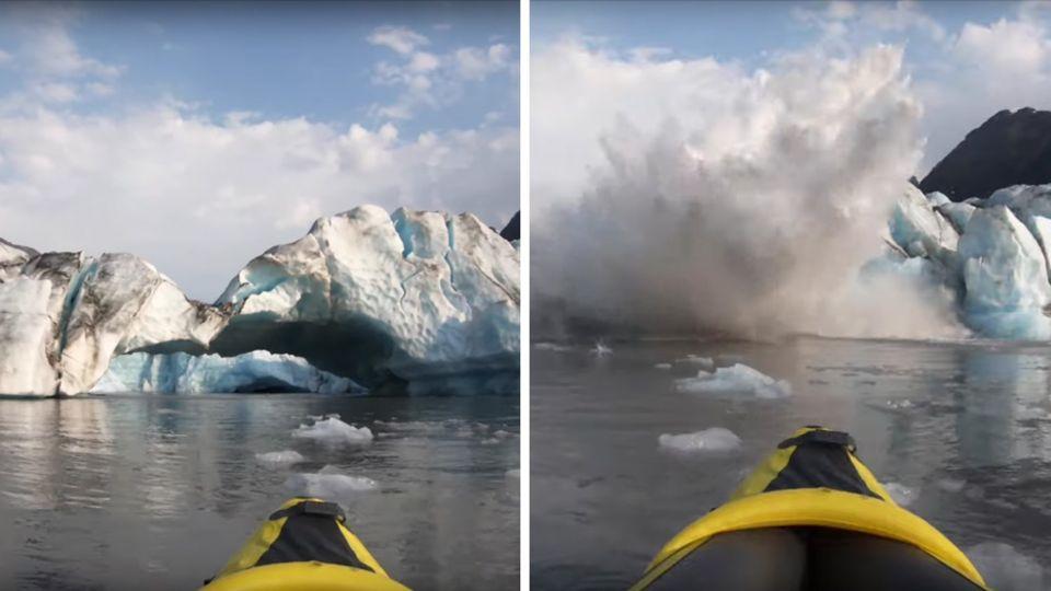 Spencer Gletscher Alaska Kajaks