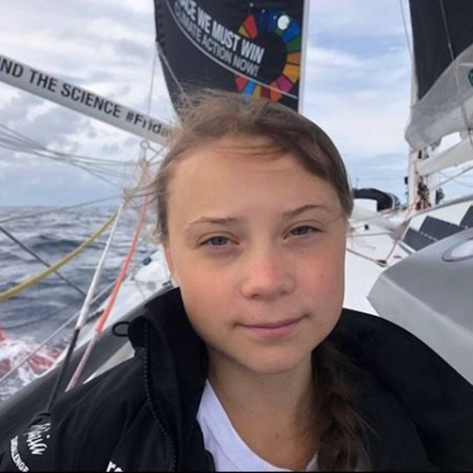 """Fahrt zum Klimagipfel: Tag 12: Nur noch 1000 Seemeilen bis New York: """"Greta hält sich wirklich gut"""""""