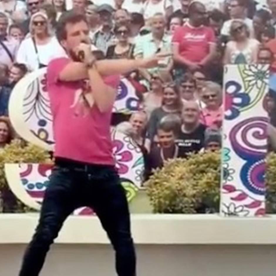 """""""Das mieseste Verhalten"""": Luke Mockridge macht sich im """"Fernsehgarten"""" zum Affen – und Andrea Kiewel reagiert wütend"""