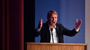 Björn Höcke auf dem AfD-Landesparteitag in Arnstadt