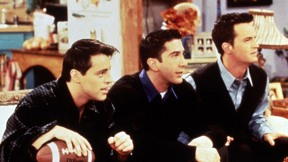 "Joey, Ross und Chandler aus der Kultserie ""Friends"""