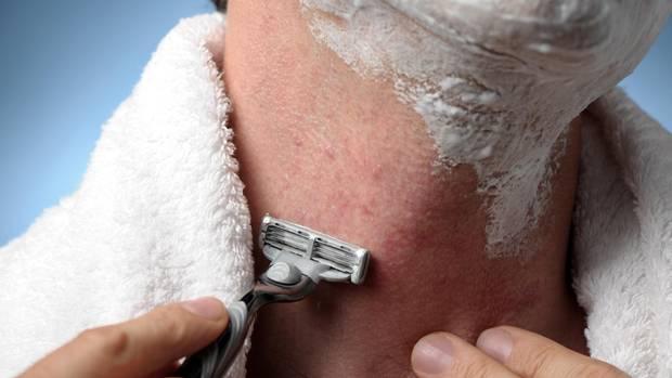 Beim Rasieren wird die Haut gereizt