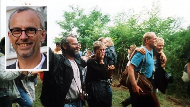 """DDR-Bürger flüchten beim """"paneuropäischen Picknick"""" von Ungarn nach Österreich"""