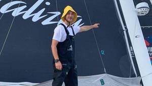 """Skipper Pierre Casiraghi an Bord der """"Mailizia II"""""""