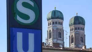 Der S-Bahnhof Marienplatz in München