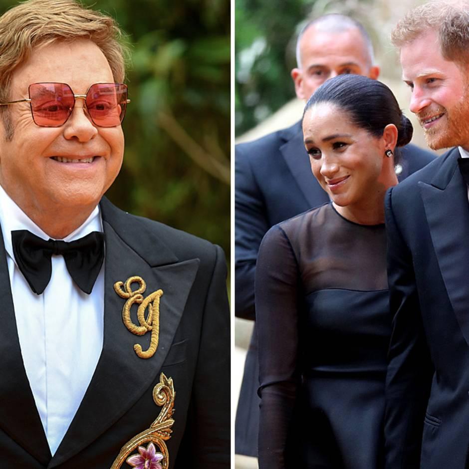 """""""Bösartige Berichte"""": Reisen im Privatjet: Elton John verteidigt Prinz Harry und Herzogin Meghan"""