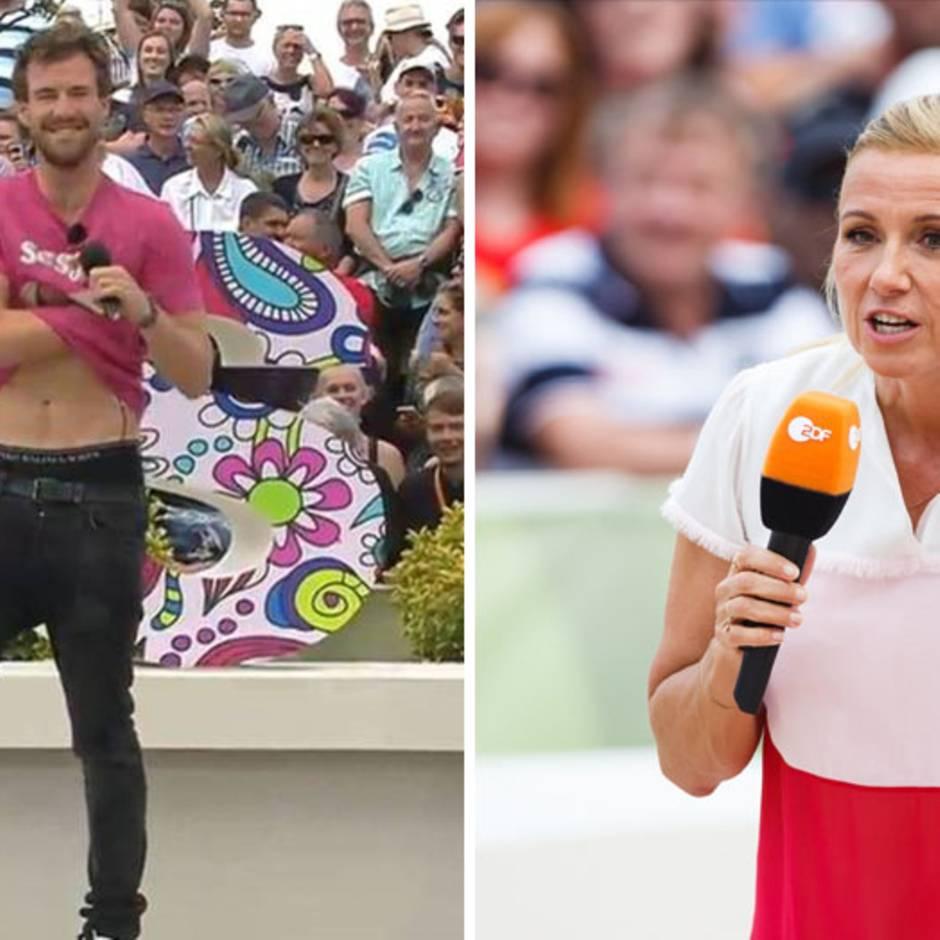 """Eklat beim """"ZDF-Fernsehgarten"""": Hat das ZDF von Luke Mockridges Auftritt gewusst und Moderatorin Andrea Kiewel auflaufen lassen?"""