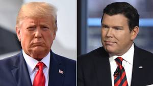 US-Präsident Donald Trump (l.) undFox-News-Moderator Bret Baier
