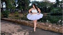 Die brasilianische Ballerina Júlia del Bianco auf einem Instagram-Foto