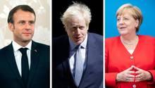 Combo - Macron, Johnson, Merkel