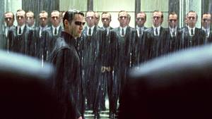"Keanu Reeves als ""Neo"" in Matrix"