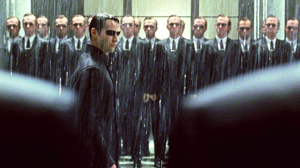 "Keanu Reeves als ""Neo"" in Matrix"