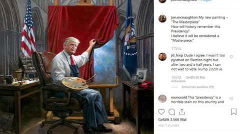 Jon McNauhgton: US-Maler enthüllt bizarres Trump-Gemälde - und Twitter-Künstler nutzen die Steilvorlage