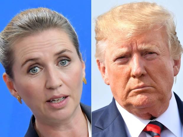 Dänemarks Ministerpräsidentin Mette Frederiksen (l.) und US-Präsdient Donald Trump