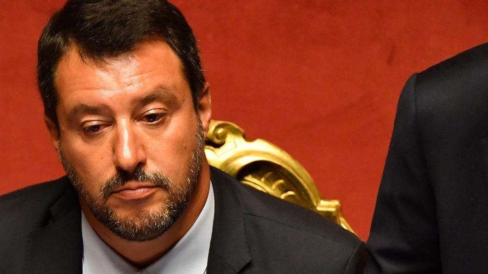 Pressestimmen zur Regierungskrise in Italien - Matteo Salvini
