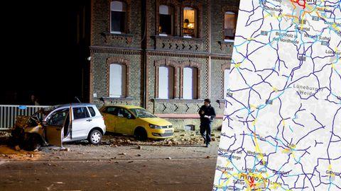 Unfall in Wiesbaden, Karte aus dem Unfallatlas