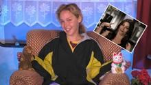 Big Brother Kandidatin Theresia sitzt auf einem Sessel