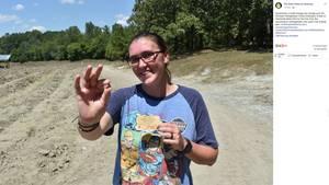 Glückliche Finderin: Miranda Hollingshead fand in einem Nationalpark einen Diamanten