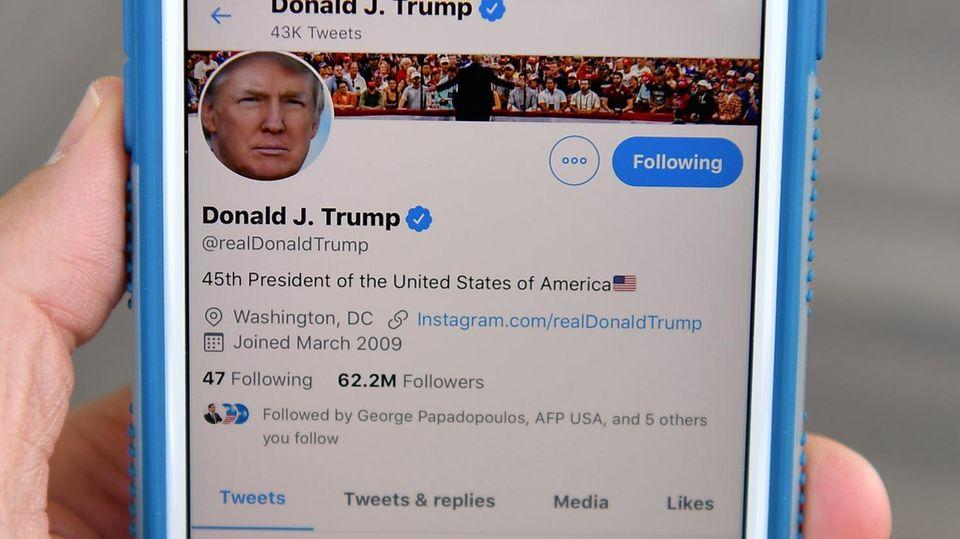 Der Twitter-Kanal von US-Präsident Donald Trump