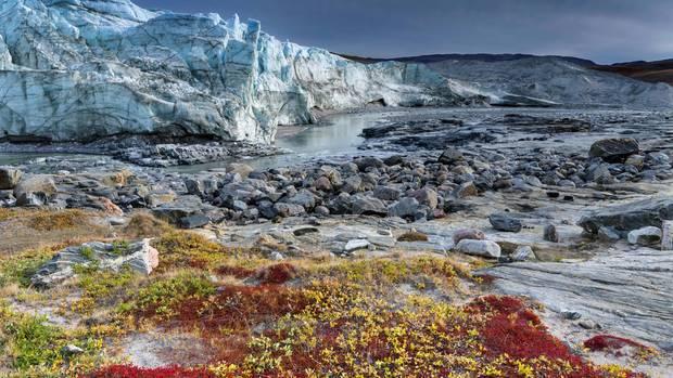 Täglich verliert Grönland etwa eine Milliarde Tonnen Eis, einen Teil davon im Westen