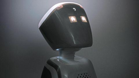 Fast putzig wirkt der kleine Roboter