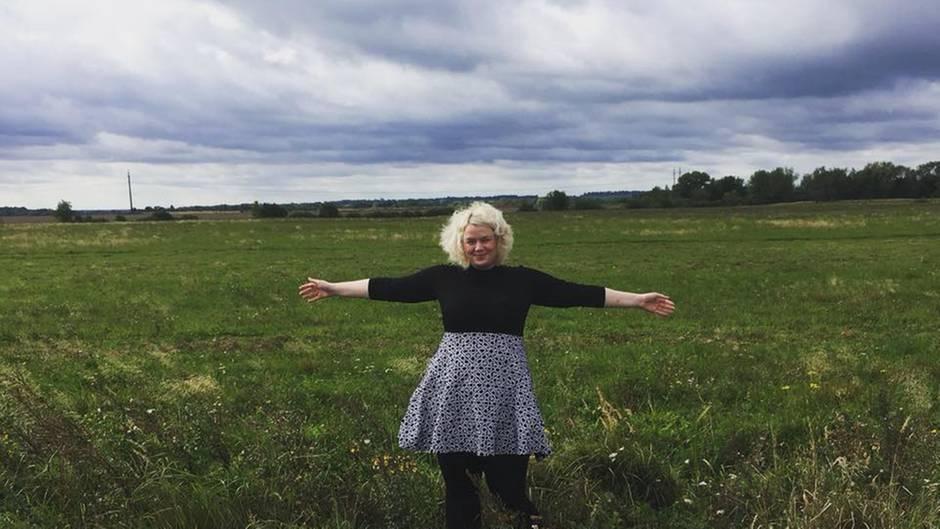 Unterwegs im ehemaligen Ostpreußen: Die Landschaft vor dem Dorf Zabrodino