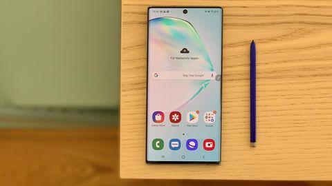 Samsung Galaxy Note 10 von vorne