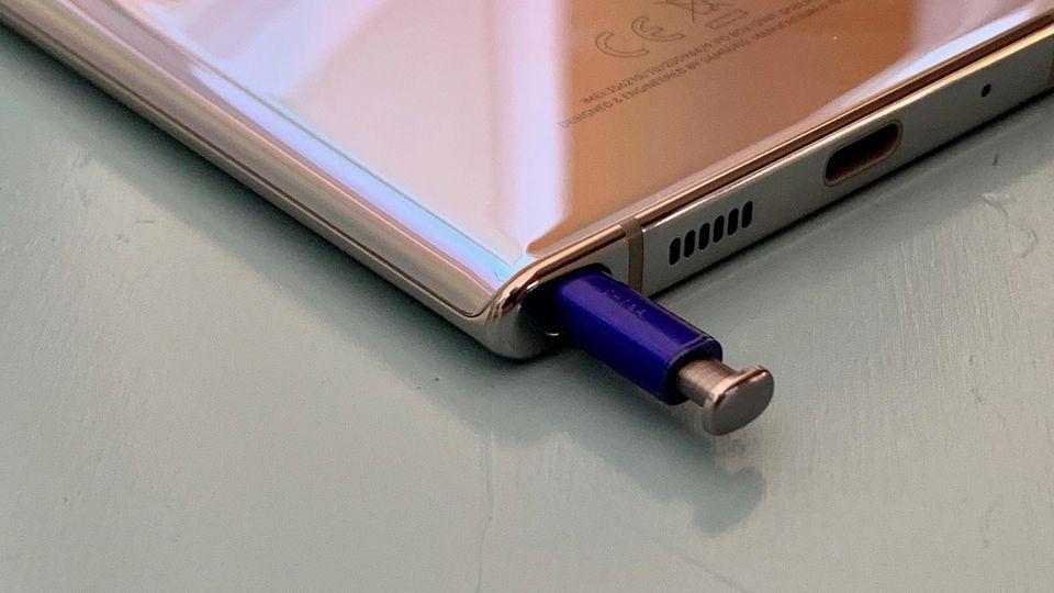 Samsung Galaxy Note 10+ S-Pen verschwindet im Gehäuse