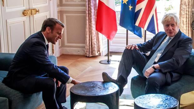 Emmanuel Macron Boris Johnson Élysée