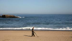 G7-Gipfel Biarritz Strand