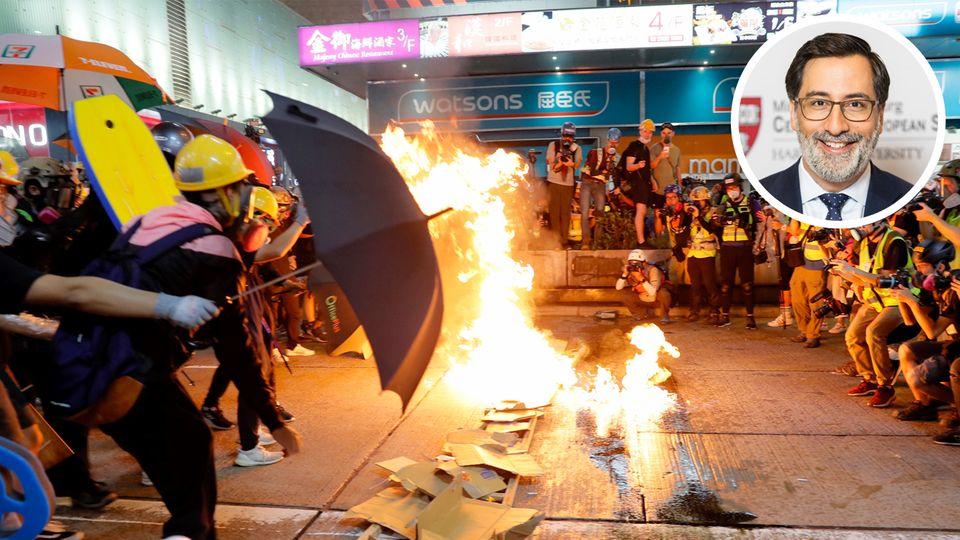 Demonstrationsszene aus Hongkong; Alexander Gärlauch