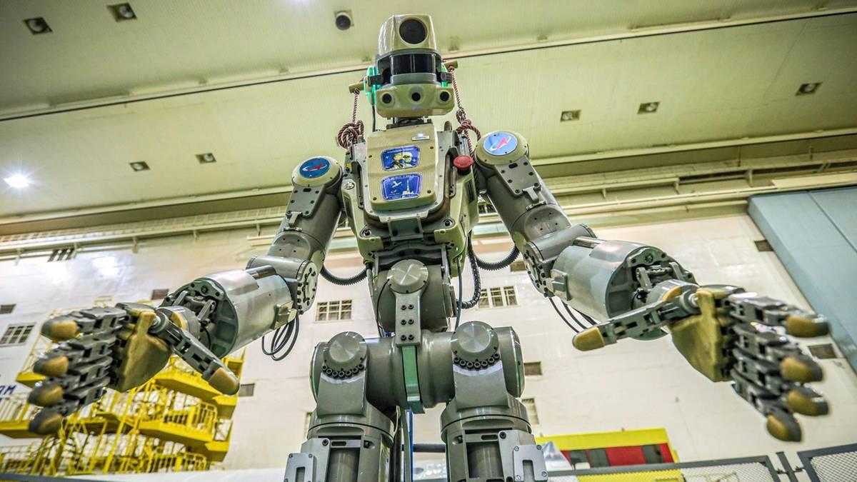 Roboter auf dem Weg ins All: Gestatten, Fedor! Das ist das neue russische Besatzungsmitglied der ISS