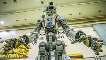 Robotor Fedor auf dem Weg zur ISS