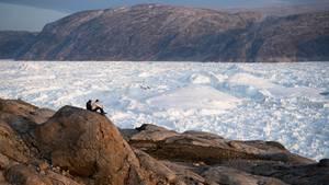 Grönland: Blick auf eine Schneefläche