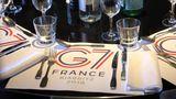 Der G7-Gipfel beginnt offiziell am Samstag um 19.30 Uhr mit einem gemeinsamen Abendessen und dauert bis zum 26. August